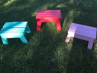 Colourful stools- very well built!  St. Albert