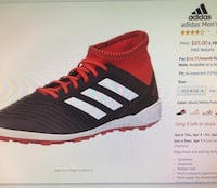 unpaired black and red Adidas low top sneaker Annandale