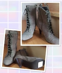 Nine West Suede Booties size 6M (fits also 6 1/2), worn only once for 2 hours San Diego, 92107