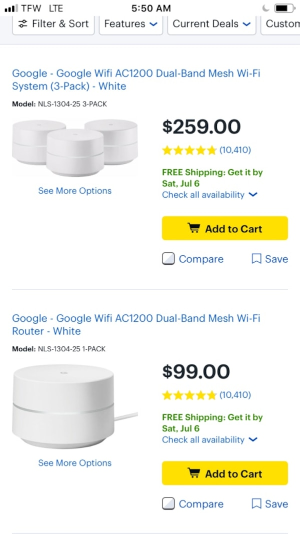 Google WiFi system(two for one price, possibly 3!)