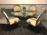 SOLID WROUGHT IRON DINING SET!!