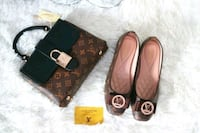 pair of brown leather flats Toronto, M6M 5A5
