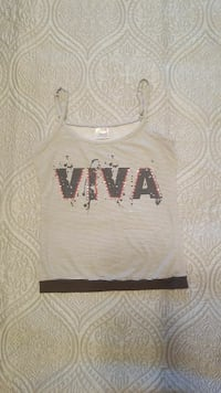white and black Viva spaghetti strap pinstripe tank top Asheville, 28805