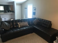 Large 2 piece sectional faux leather couch in Good Condition!! $750 OBO 2285 mi