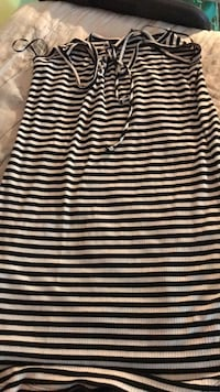 black and white stripe sleeveless dress Upper Marlboro, 20774