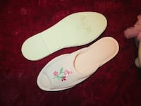 white-and-pink floral slip on shoes New York, 11208
