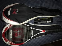Black and white wilson tennis racket Surrey, V3W 0A4