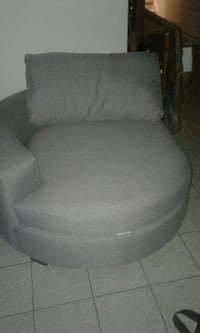 gray fabric padded rolling armchair Mississauga, L5V 3B7