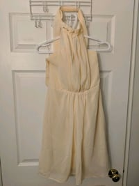 Halter top semi-formal ivory chiffon dress Toronto, M4W 1A9