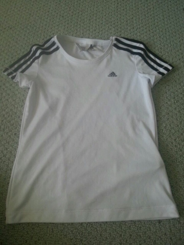 Black and white gym shirt by Adidas