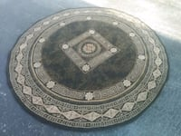 round brown and black floral area rug Tampa, 33609