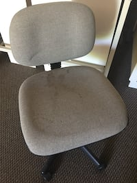 gray micro-suede rolling chair