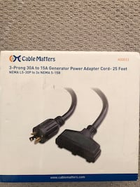 Generator power adapter cord