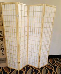 Brand New 4 Panel Room Divider Natural Wood Color Wheaton-Glenmont, 20902