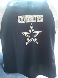 black and white Dallas Cowboys jersey shirt