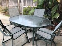 Must Sell- Patio Table with 4- Chairs Temple Terrace, 33617