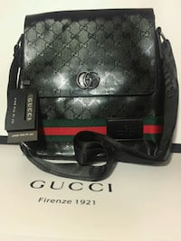Gorgeous Black with Green/Red Stripe Messenger Bag Mississauga, L5R 3A9