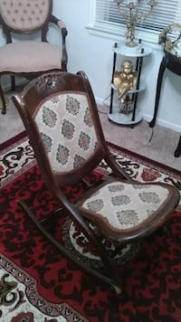 Antique solid wood folding rocking chair  Broomfield