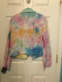 Tie-dyed ladies white jean jacket Carroll Valley, 17320