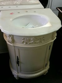 beige and white vanity table