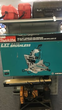 Blue and silver makita compound miter saw box Jacksonville, 32210
