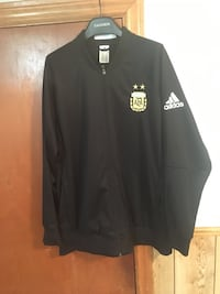 Black and white adidas zip-up jacket Mississauga, L5L