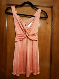 Women's coral pink sleeveless top