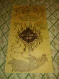 Harry potter's Map brown and black printed textile Garden Grove, 92843