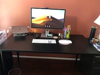 Beautiful Solid Black Desk/ Table with Adjustable Legs - 2nd PRICE REDUCTION Manassas Park, 20111
