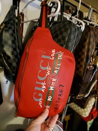 GG 100% real leather GG cross body