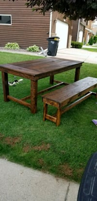 72 in hand made table w/ bench seat Fargo, 58103