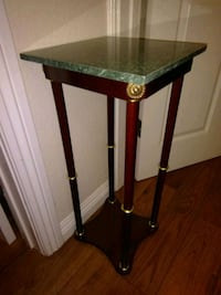 brown wooden framed glass-top table 2273 mi