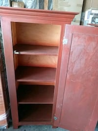 brown wooden 4-layer shelf Los Angeles, 90037