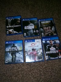 Six assorted PS4 games Greenville, 29605