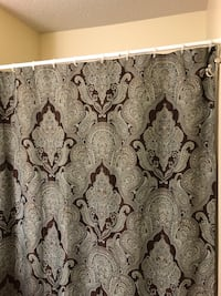 Brown and blue shower curtain  Eagan, 55123