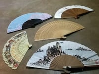 AUTHENTIC JAPANESE FANS  5 VERY DETAILED Moore, 73160