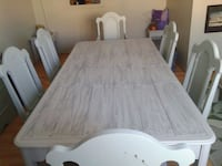 Stunning repainted dining set for six! Chic!  Kitchener, N2N 1L7