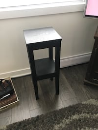 rectangular black wooden side table Vancouver
