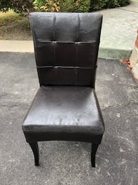 Dark brown leather padded armless chair Vaughan, L6A 1K5