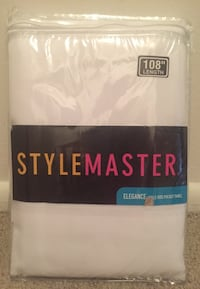 """Stylemaster Sheer Voile Elegance 60"""" X 108"""", Panel White Indianapolis, 46224"""