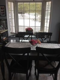 round brown wooden table with four chairs dining set Burlington, L7L 5J5