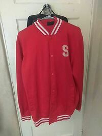 Red athletic button up sweater Tucson, 85719