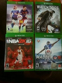 4xbox one games for 15buxs  San Jose, 95111