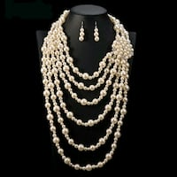 brand new two piece stimulated Pearl sets