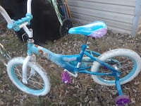 toddler's blue and white bicycle 448 mi
