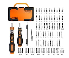Home Rotatable Ratchet Screwdriver Set, 69 in 1 Household Repair Toolk