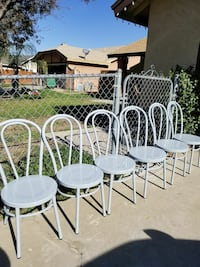 6 Brand New Metal Chairs grey color