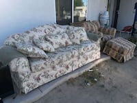 white and red floral fabric sofa Palmdale, 93550