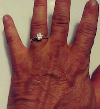 9.25 sterling silver diamond engagement ring Anderson, 29624