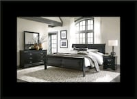 11pc Black Marley bedroom set Ashburn